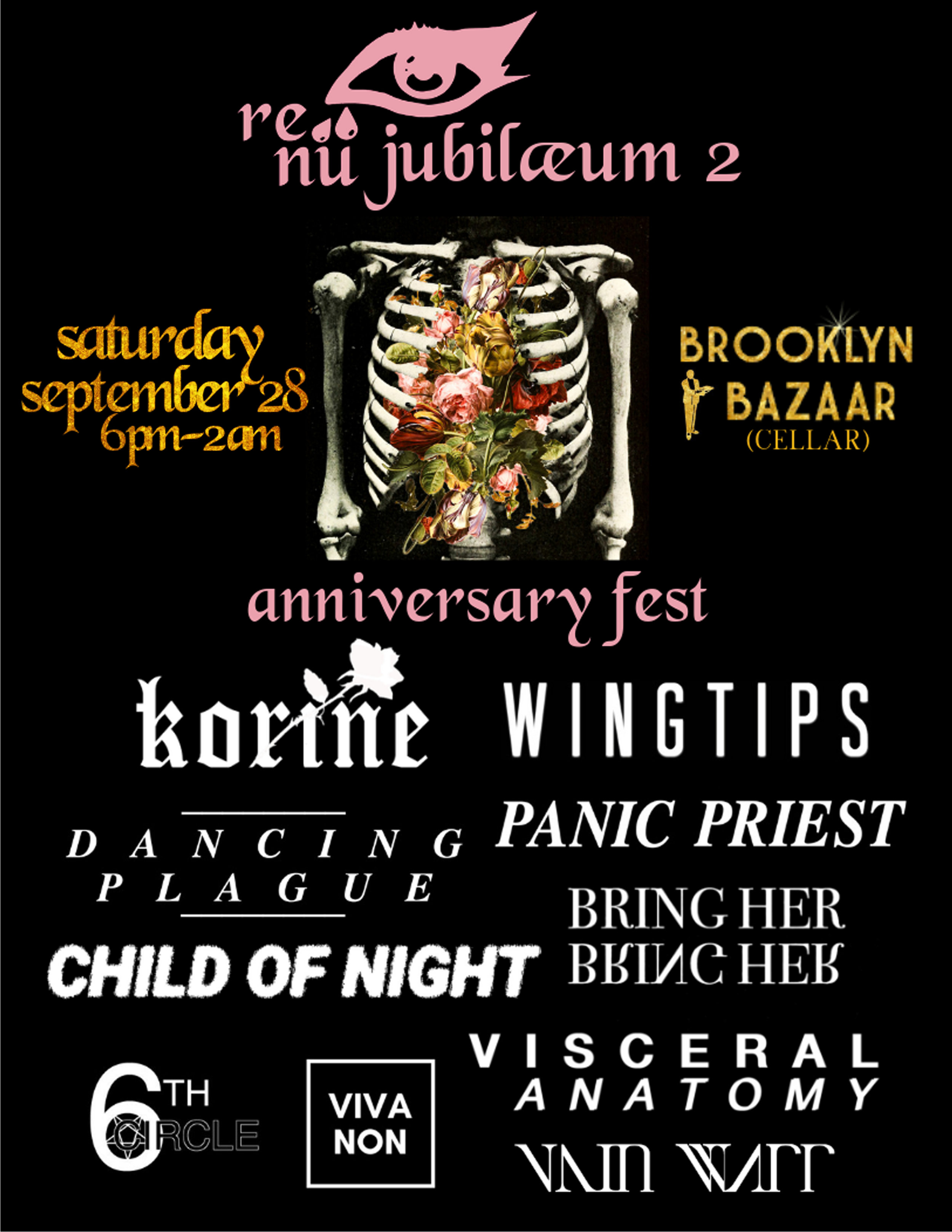 Flyer for Re:Nu's 2nd Anniversary Fest