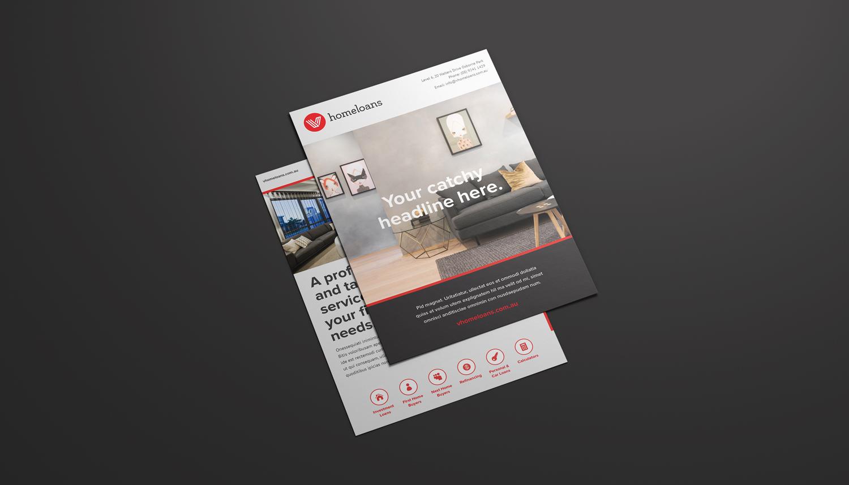 Template design- A5 flyer
