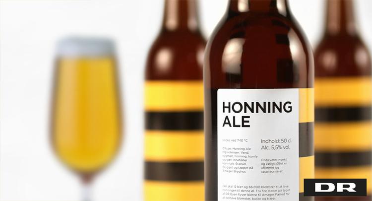 DR Honning Ale  Label design