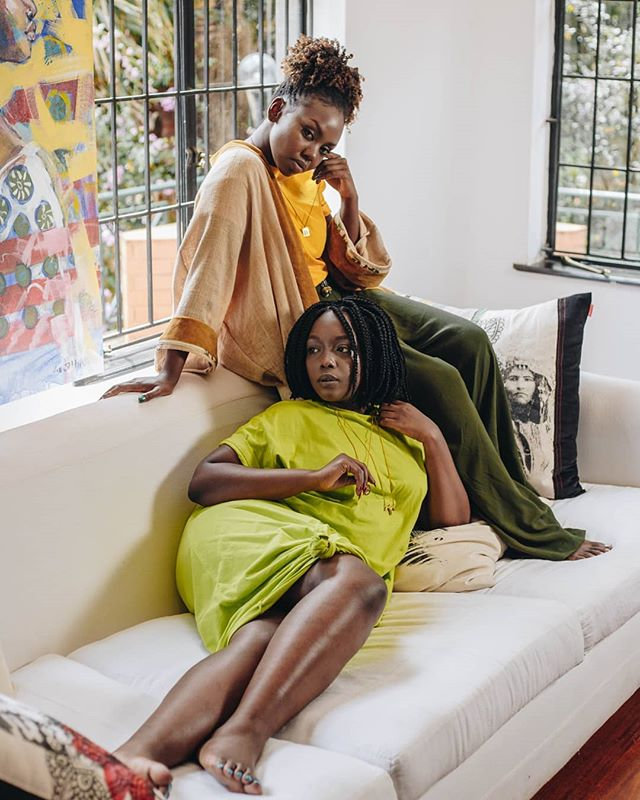 @misskihoro x @ruby_githui in their Lilabare loungewear = 🔥 Each piece in this collection is designed to take you from Sunday Funday, date night, happy hour with the girls and to yoga! We say comfort is sexy because the feeling of knowing you look and feel gorgeous is not one that we usually associate with being comfortable :-/ no more! That sneaky good-mood feeling is exactly what we want for you, as a member of our tribe...join the bandwagon this season of @theboxkenya , happening this weekend at @karen_blixen_museum .  Shot at the incredible @tribalgallery , our friends and Bargain Box neighbours, who curate the most incredible pieces for all places and spaces. • •  Photographer: @brestonkenya Styling & design: @riaananas • •  #lilabare #aboutalook #sustainablefashion #shopsustainable #slowfashion #bodypositivity #emergingfashion #africanfashion #popupboutique #weekendplans #sundayfunday #nairobikenya #kenyafashion #consciousfashion #sustainableclothing #fashionforchange #africanfashionistaskillingit #nairobifashion #africanfashiontotheworld #slowfashionmovement #popupnairobi #artisanmade #styleinspo #sustainablestyle #buyhandmade #buykenyabuildkenya #buyhandmade #loungewear via @preview.app