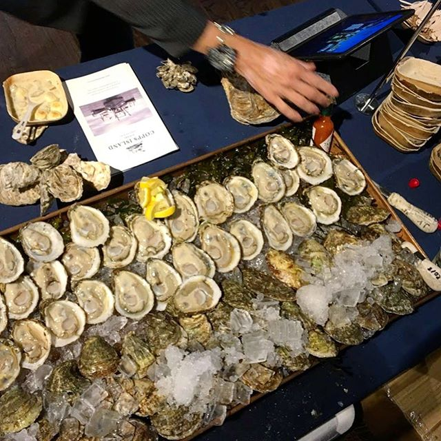 Congrats to the @billionoyster crew and all our fellow farmers for making yet another #BillionOysterParty a major success! We loved connecting with other farmers from across the country, and there's nothing like shucking elbow-to-elbow for crowds of adoring oyster fans. Keep up the great work, everyone! #billionoysterparty2019 #redhookbrooklyn