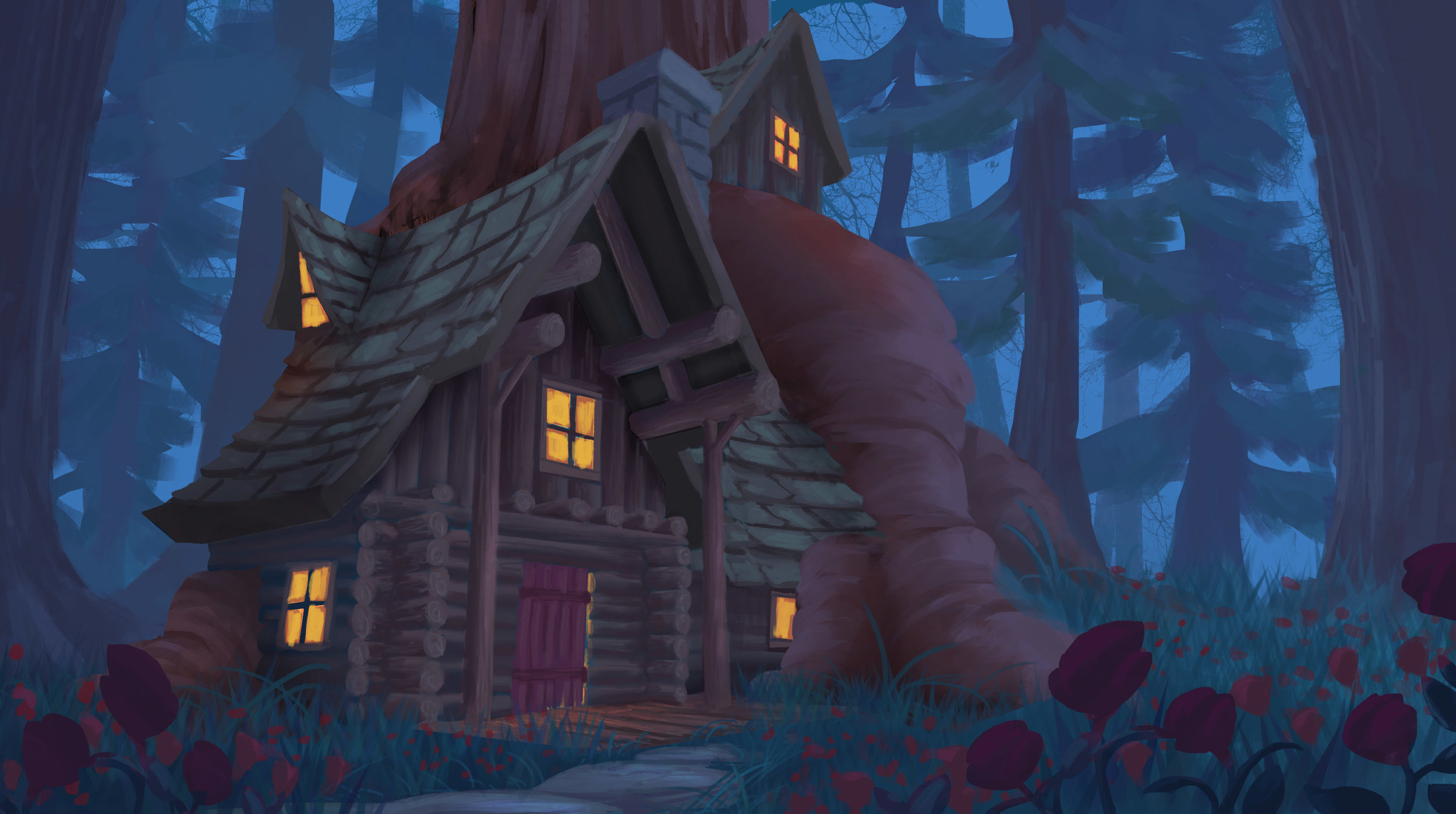 Little Haven - Episode 8: The Quest, Part 2DOLINA:   Once we get out into this field of poppies up ahead you'll be able to       see our cabin.SAM:    I've never seen flowers like thisROY:    Or a house like thatARBOR:   And this is our home.SAM:    Wow. It's incredible.What is it made out of?ARBOR:   It's all wood from the trees in this forest.SAM:    Well, it's awesome.I love how it almost blends into the woods. So        cool…DOLINA:   Thank you, we're quite proud of it. It's like our own little haven.