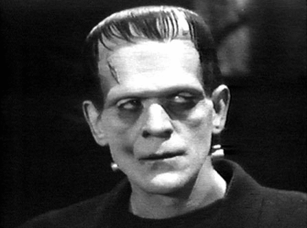 Frankenstein's monster: misshapen creature, prone to confusion and violent outbursts