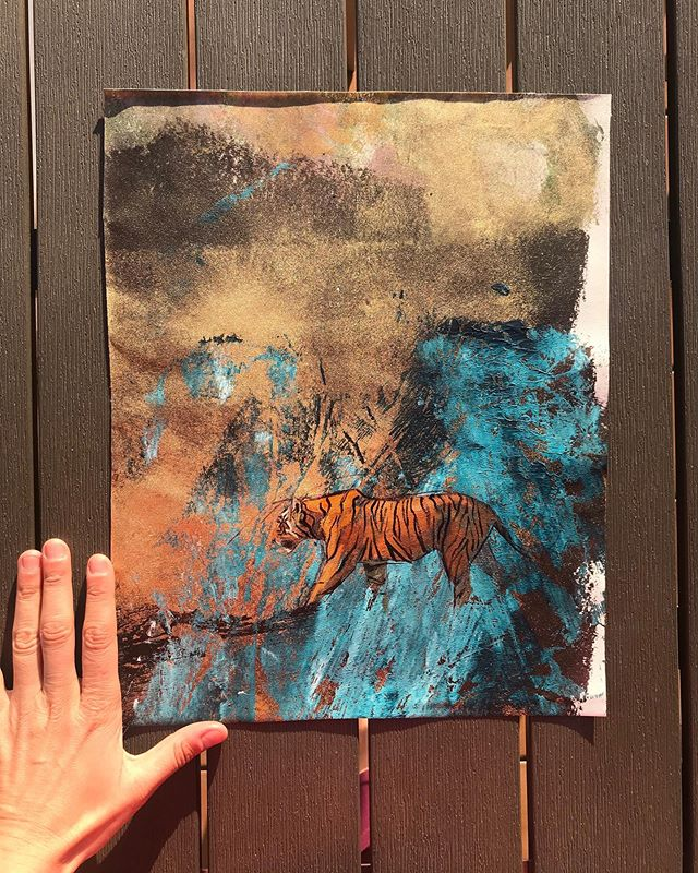 SOLD No.240 . £100/100%donation to animal conservation . @dswfwildlife . Tigers and their majesty. Honouring their future 🙏 #india #tigers #ranthambhore #painter #dailypainting