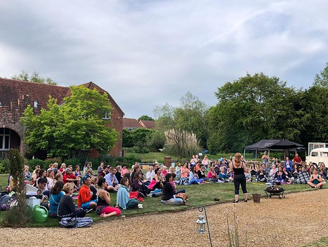 Soul Fest 2.0 yoga festival at Rownhams today has been a joy.  @lauragreenyoga let's not wait three years for the next one! 💖 #yogabath #livingwell #hampshireyoga