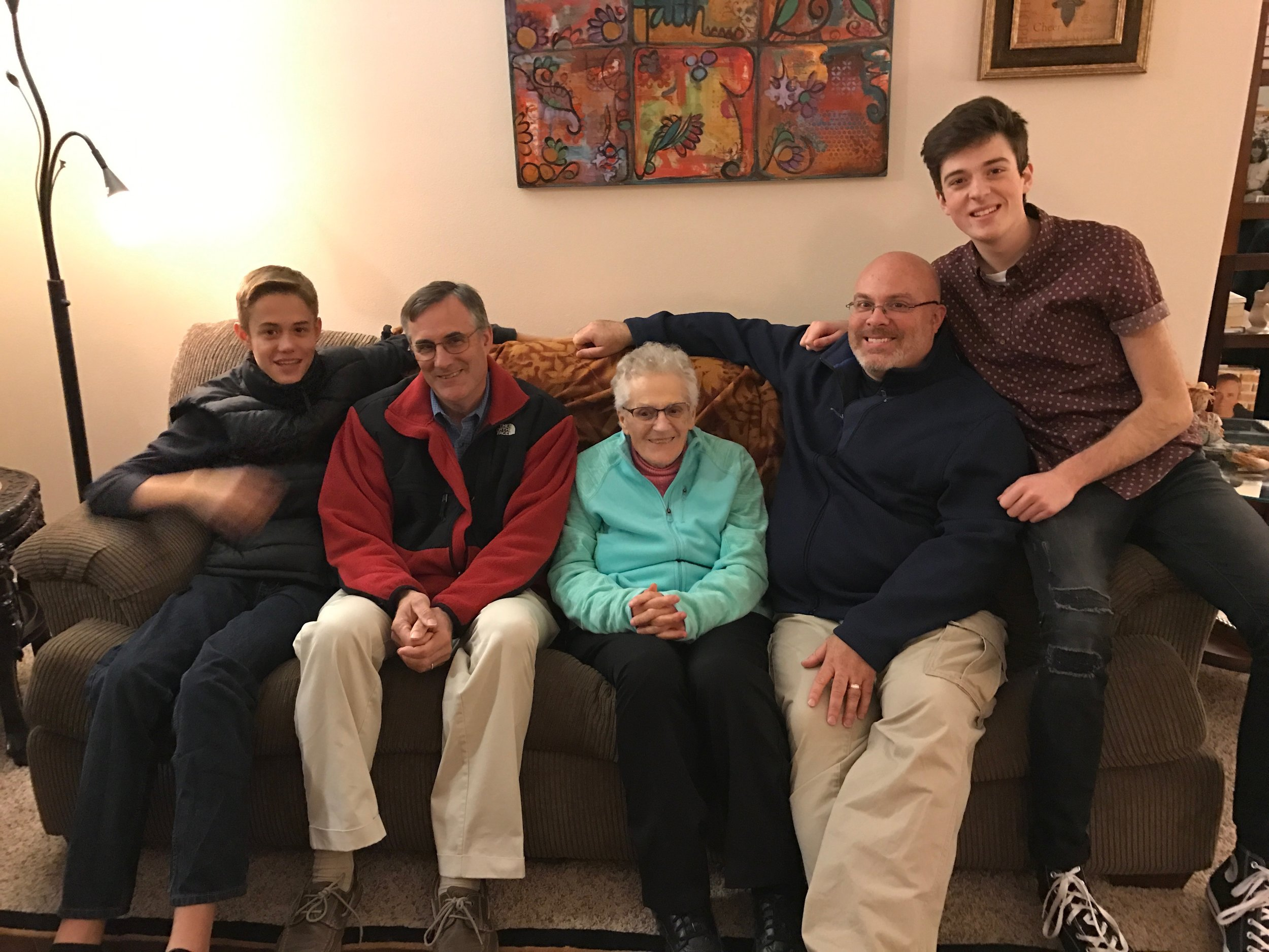 My mom, her sons and her only Nettesheim grandsons.