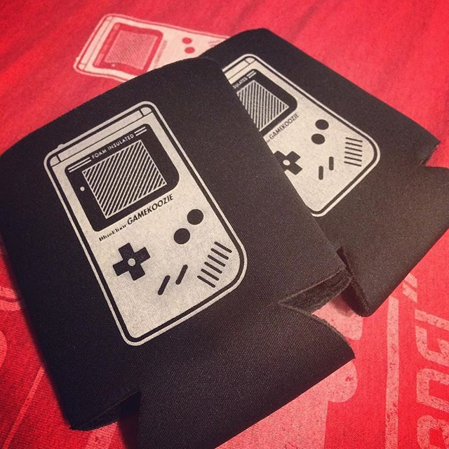 Tried my hand at printing koozies! But now I just want to play some Mario Land 2... - - - #screenprinting #koozie #gameboy #nintendo #nostalgia #videogames #gaming