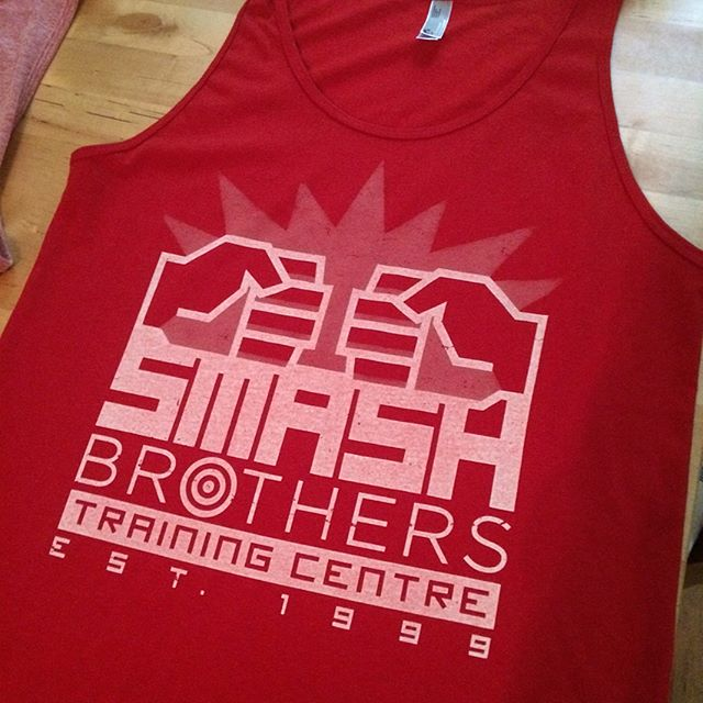 Breaking targets works up a sweat. Threw this tank top together to help with that! - - - - #screenprinting #graphicdesign #smashbros #videogames #gaming #nintendo #n64