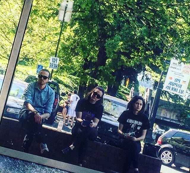 #tbt reflecting in #portlandoregon with our friend Carlo  #weareinaband #bandlife #hendrix #tourlife #austinband #atx