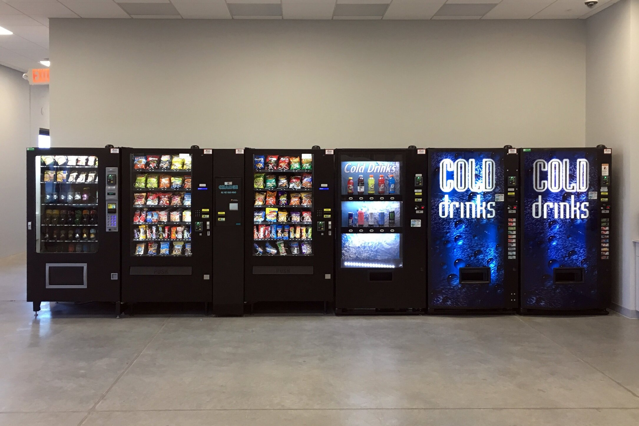 CLICK HERE for more information about Vending and food, beverage and snack machine offerings for your company!