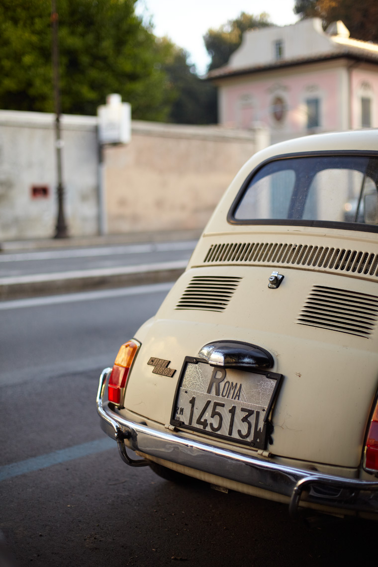 Travel Rome Italy Fiat License Plate