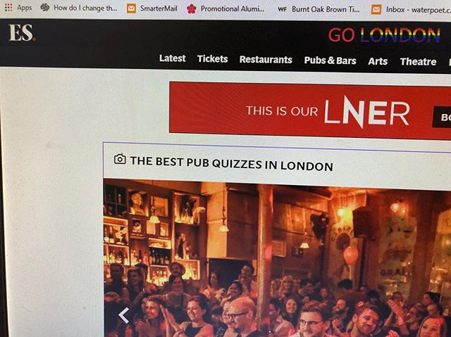 One of the top pub quizzes in London according to @evening.standard 🏆 #pubquiz #quiz #BBPQ #thebigboozypubquiz #bestquizinlondon #londonpubquiz . . https://www.standard.co.uk/go/london/bars/best-pub-quizzes-london-east-south-north-a4059551.html