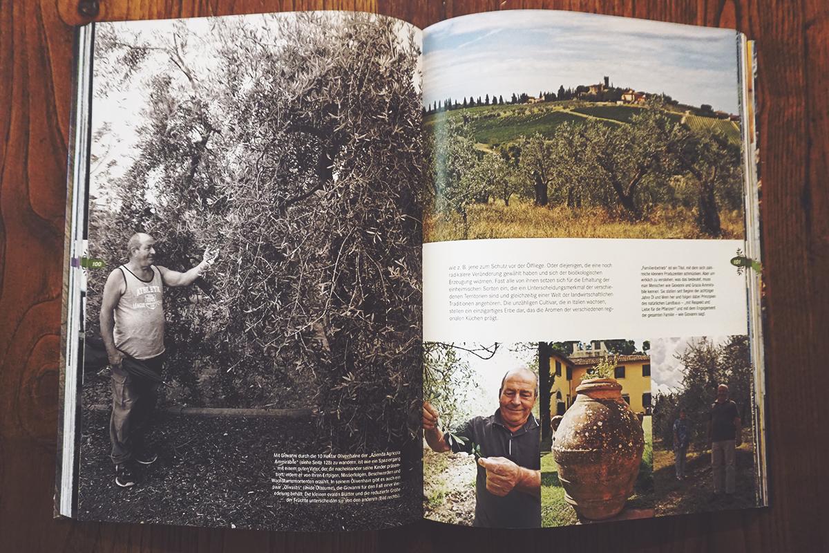 """Le pagine del libro """"Das Gold Italiens"""" dedicate all'Azienda Ammirabile."""