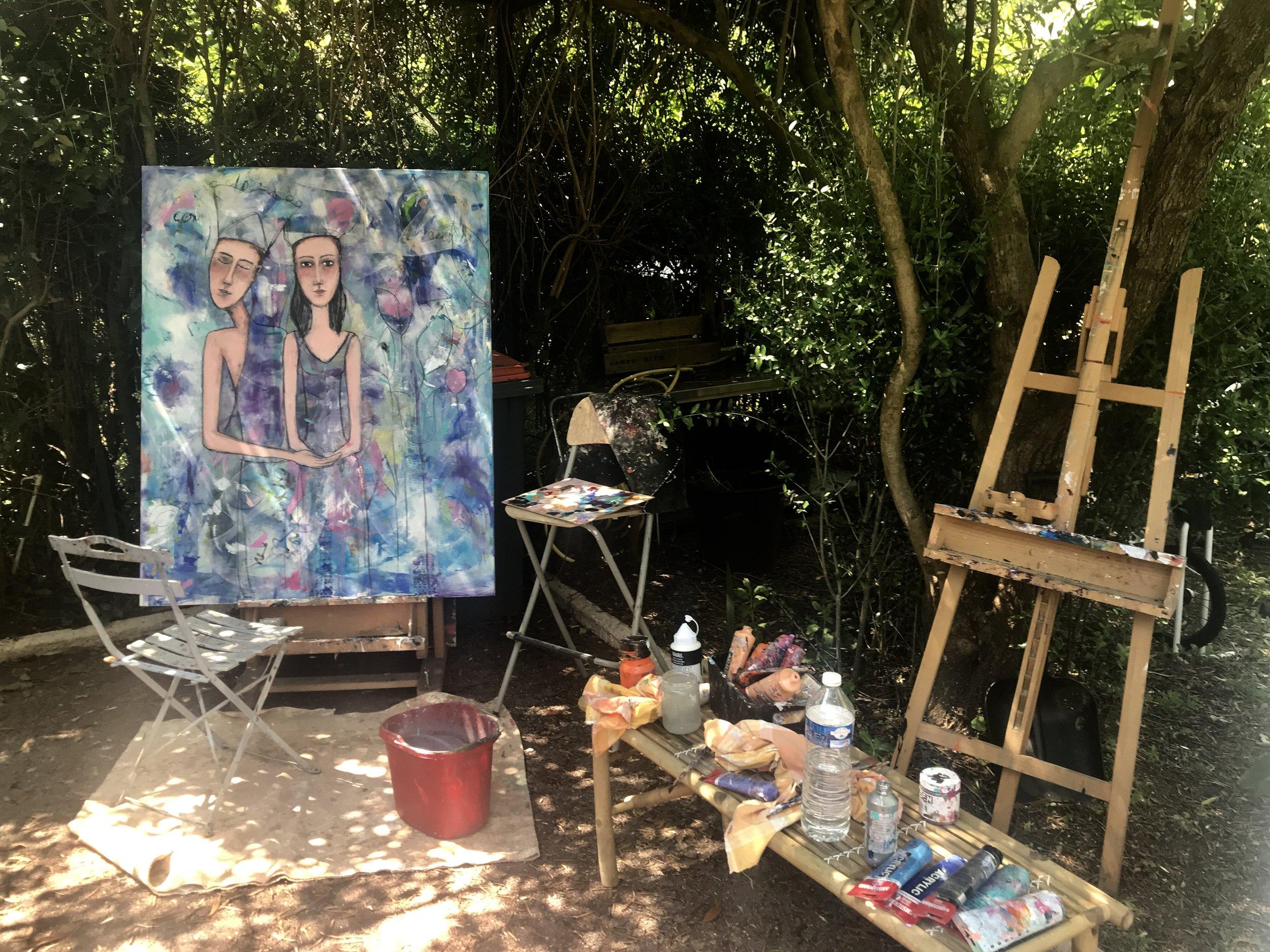 Atelier d'été ombragé.....merveilleux!