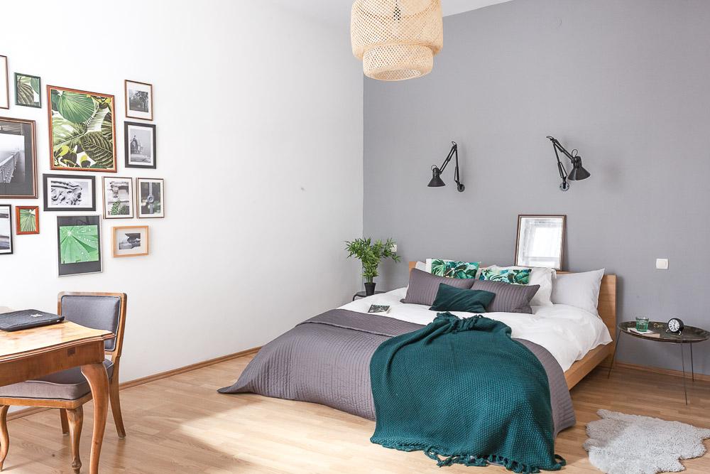 Study corner & bedroom.