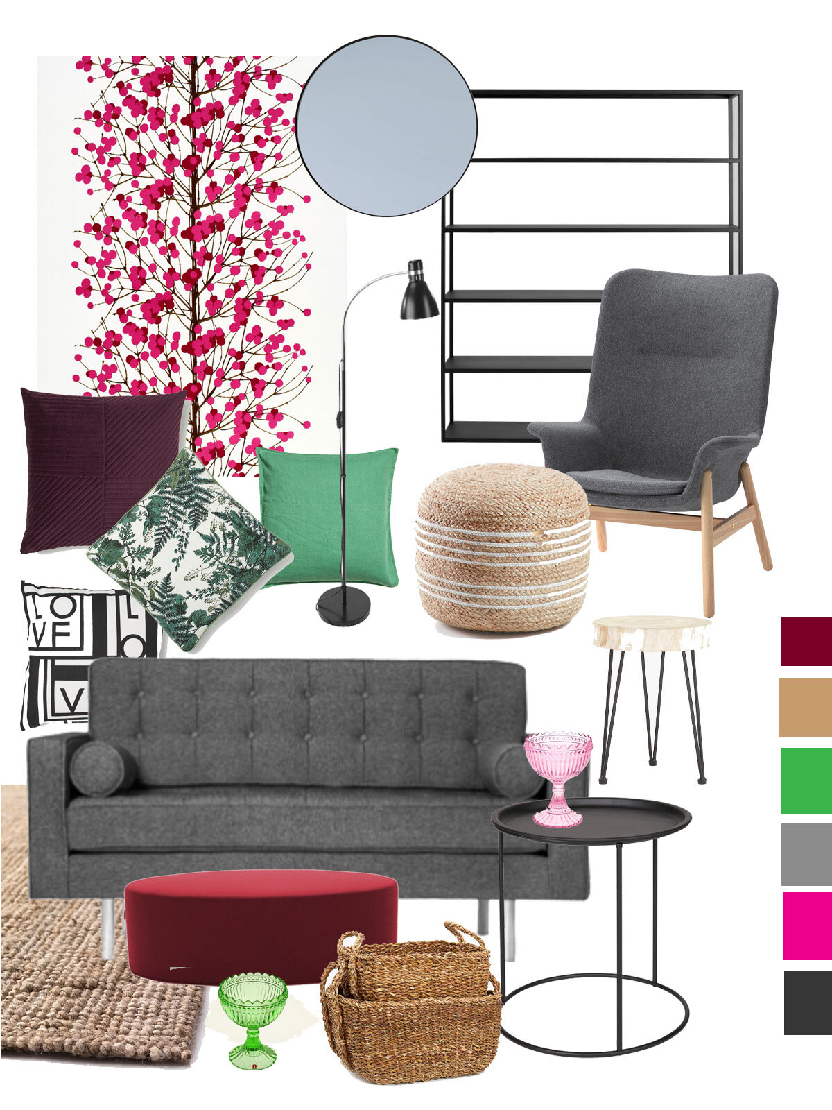 Moodboard for an inviting office.
