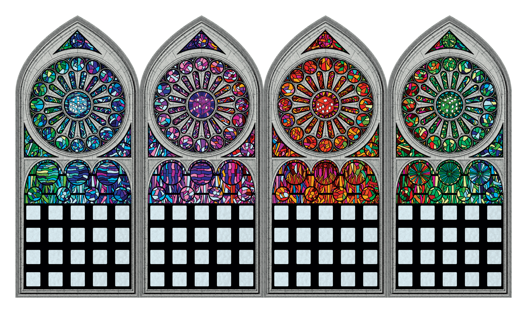 Sagrada - Stained glass player boards