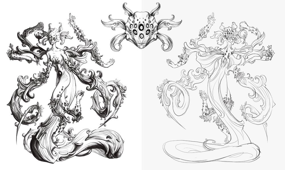 Kingdom Death illustrations