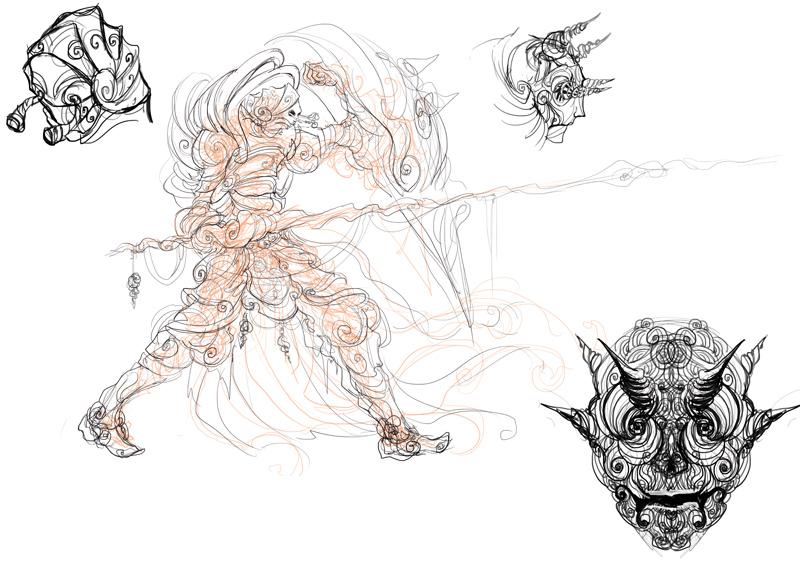 Spiral Knight Kingdom Death sketch work