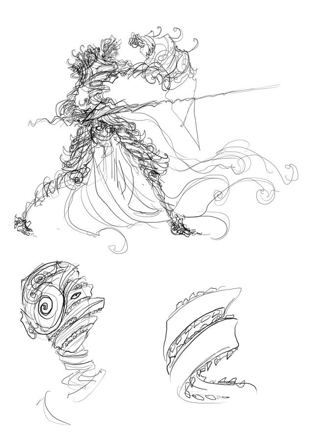 Spiral Knight Kingdom Death sketch
