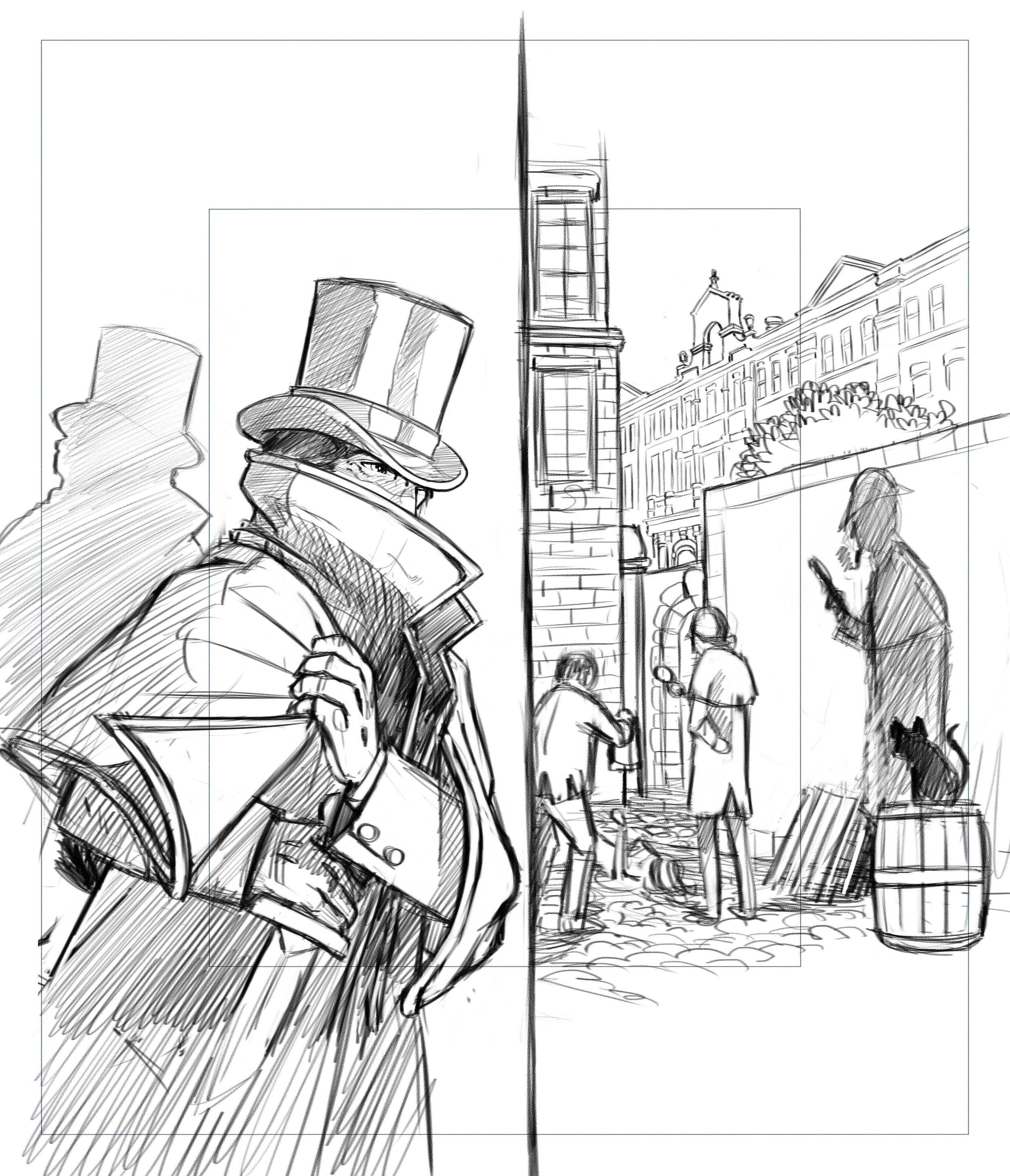 Mr Jack early illustration