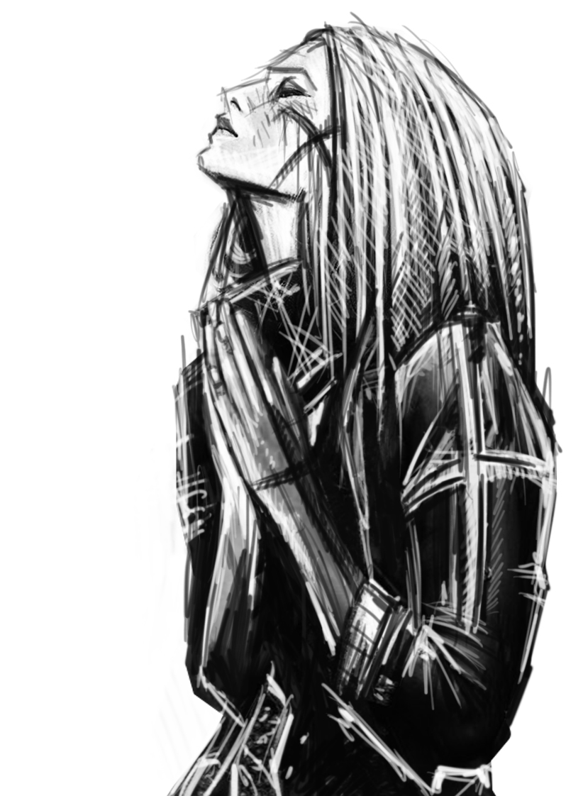 2_Female priestess_sketch(1).jpg