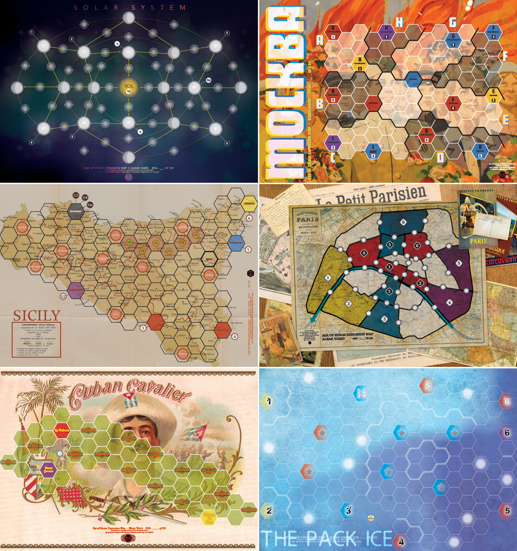Age of steam maps