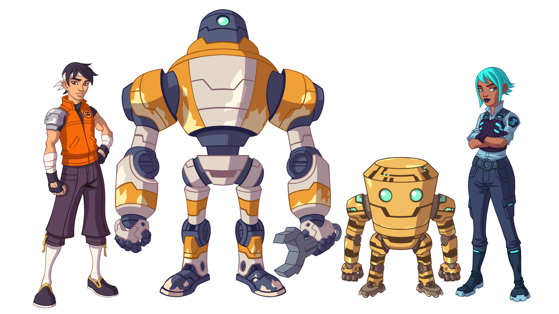 Skyward character designs by Steven Preson. These characters were later redrawn for the game by artist Dmitriy Logunkov.
