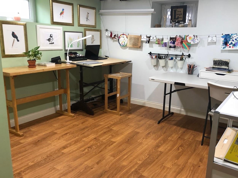 Natalia's art studio