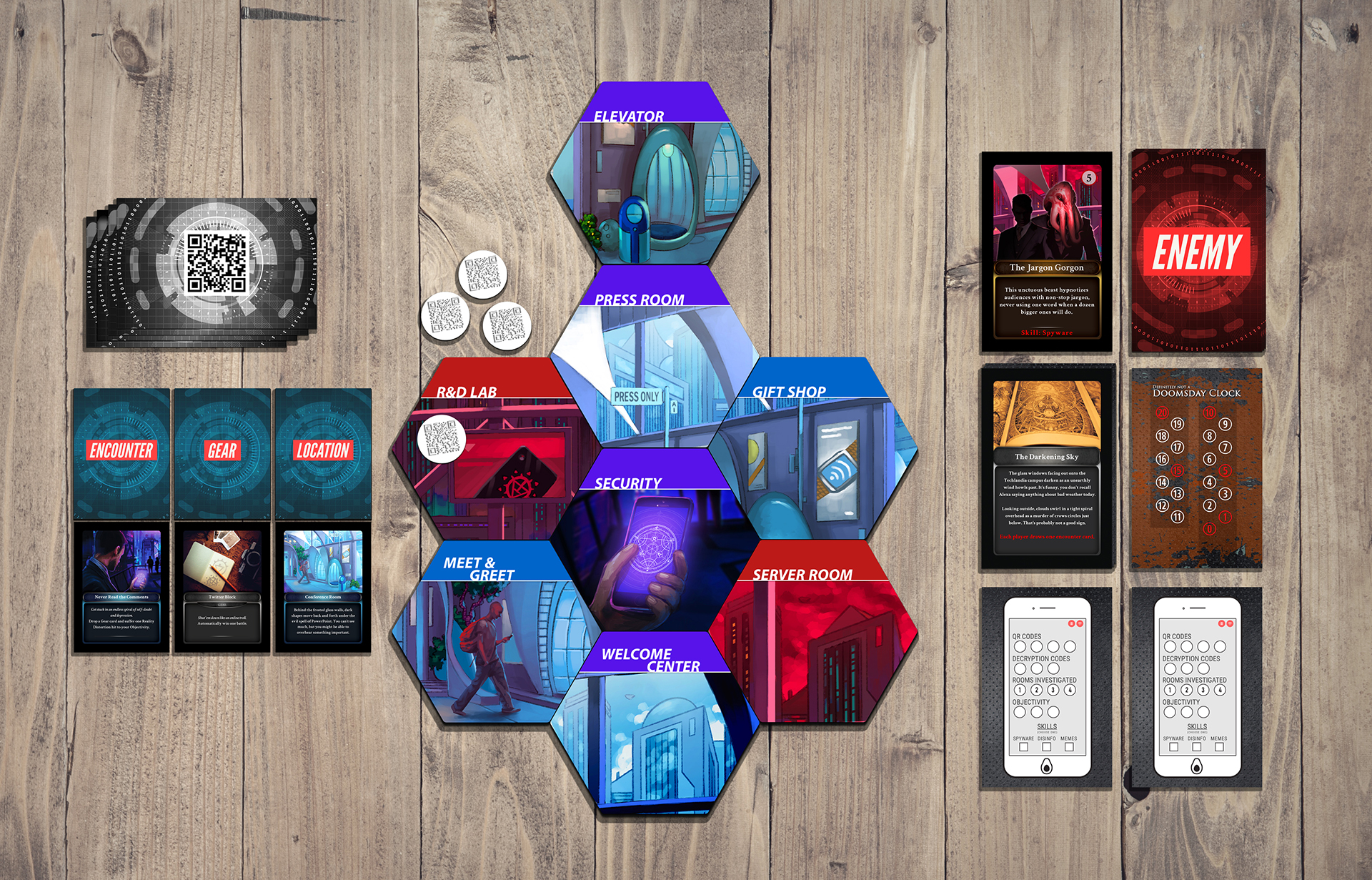 Techlandia - Full game layout