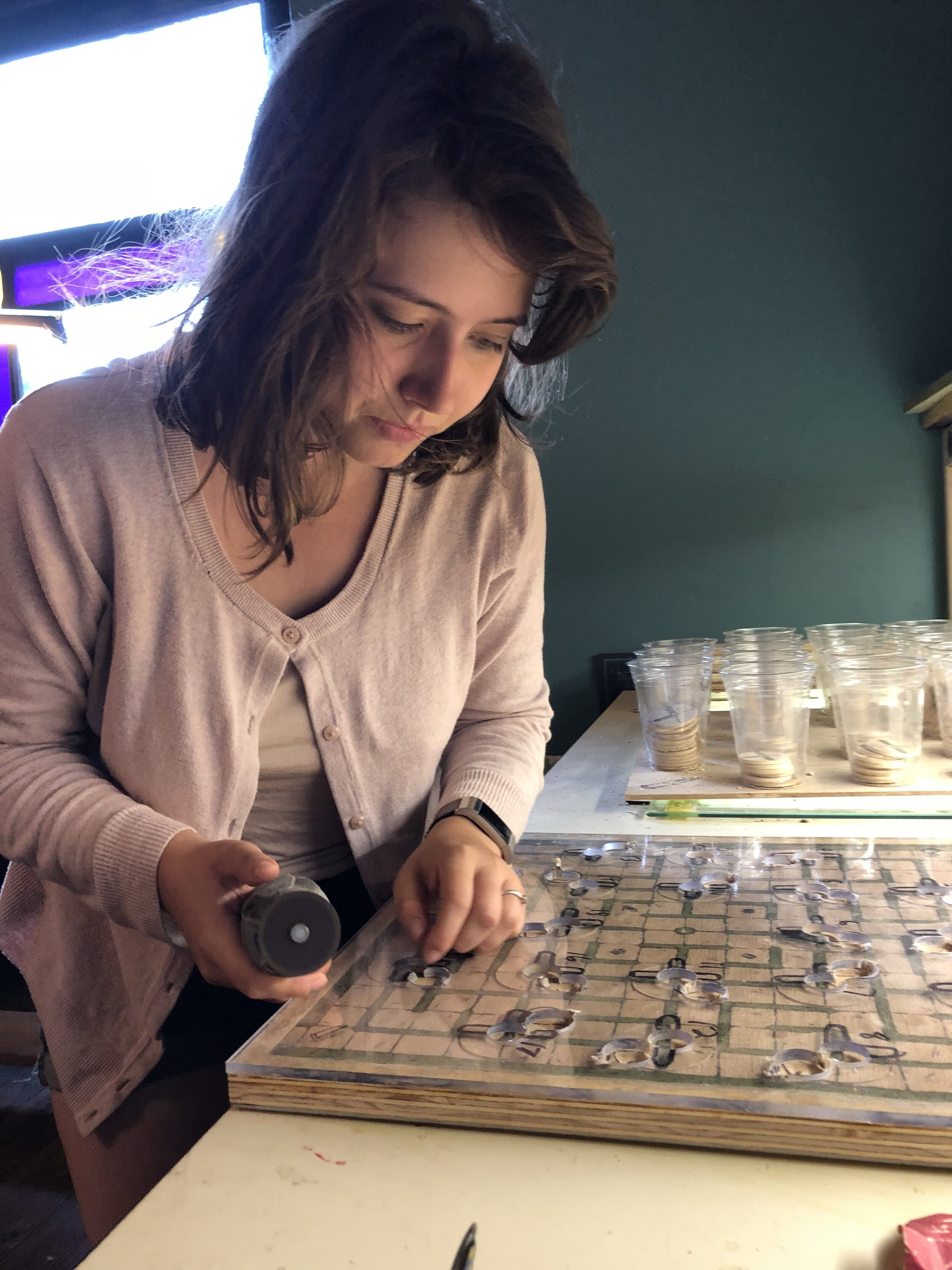 Molly carving knotches.jpg