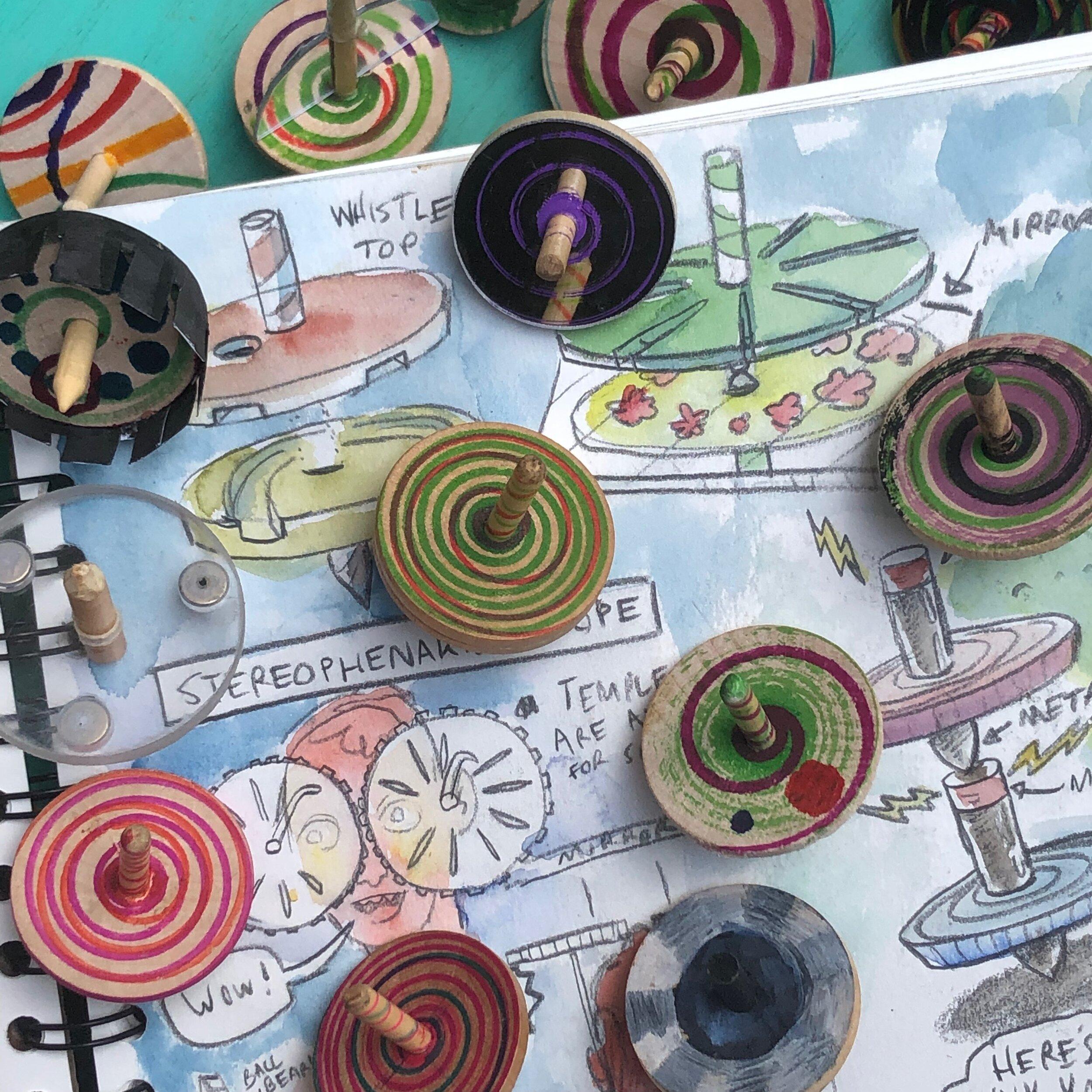 Spinning top DIY prototypes