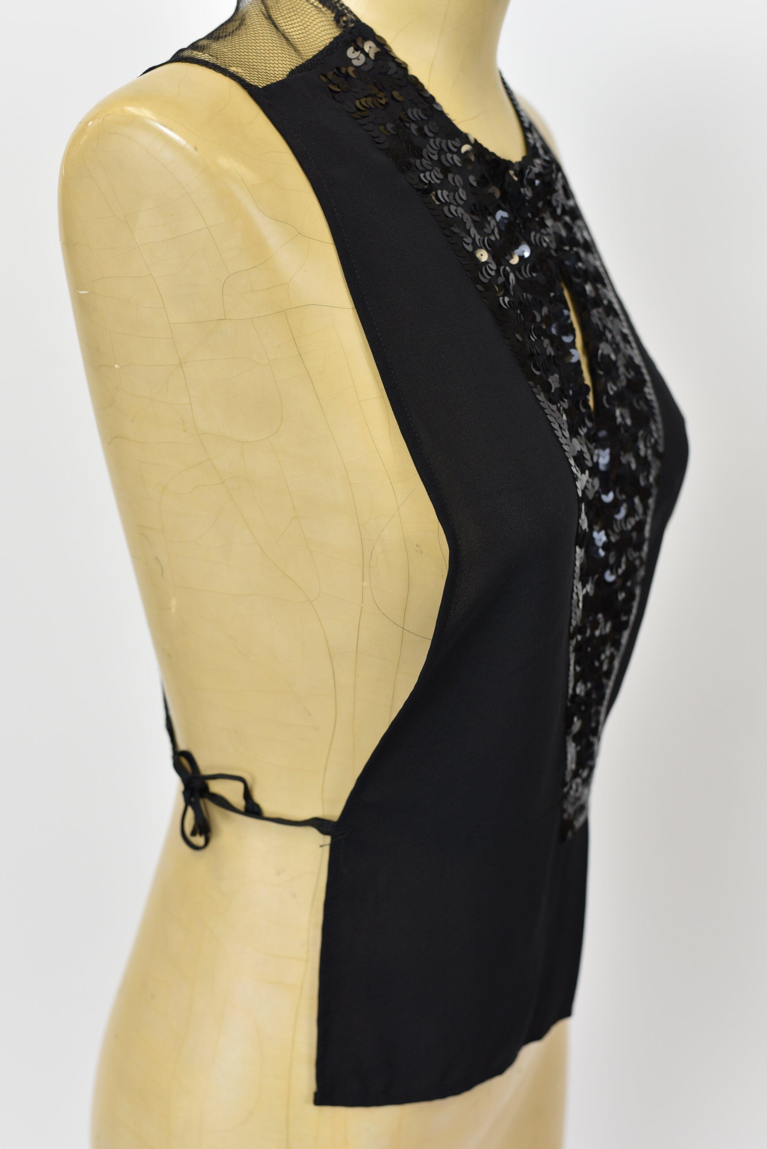 1950/'s Black Sequined Dickie