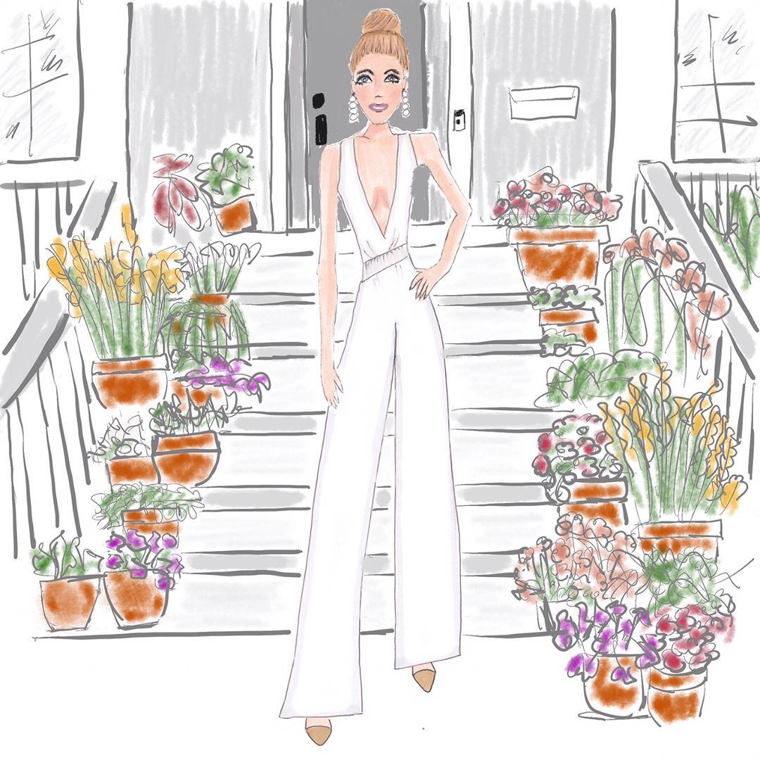 Glam whites inspired by @juliahengel So chic!  .  .  .  .  #denimandinkdesign #illustration #fashionillustration #fashionblogger #bloggerinspiration #copicmarkers #copic #urbansketch #urbansketching #fashion #drawing #flashesofdelight #thatsdarling #galmeetsglam