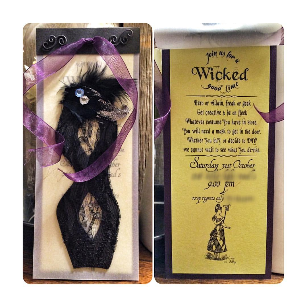Halloween invites with a theme #diy #papercrafts #DenimAndInkCards #papertreyink #invitation #halloween