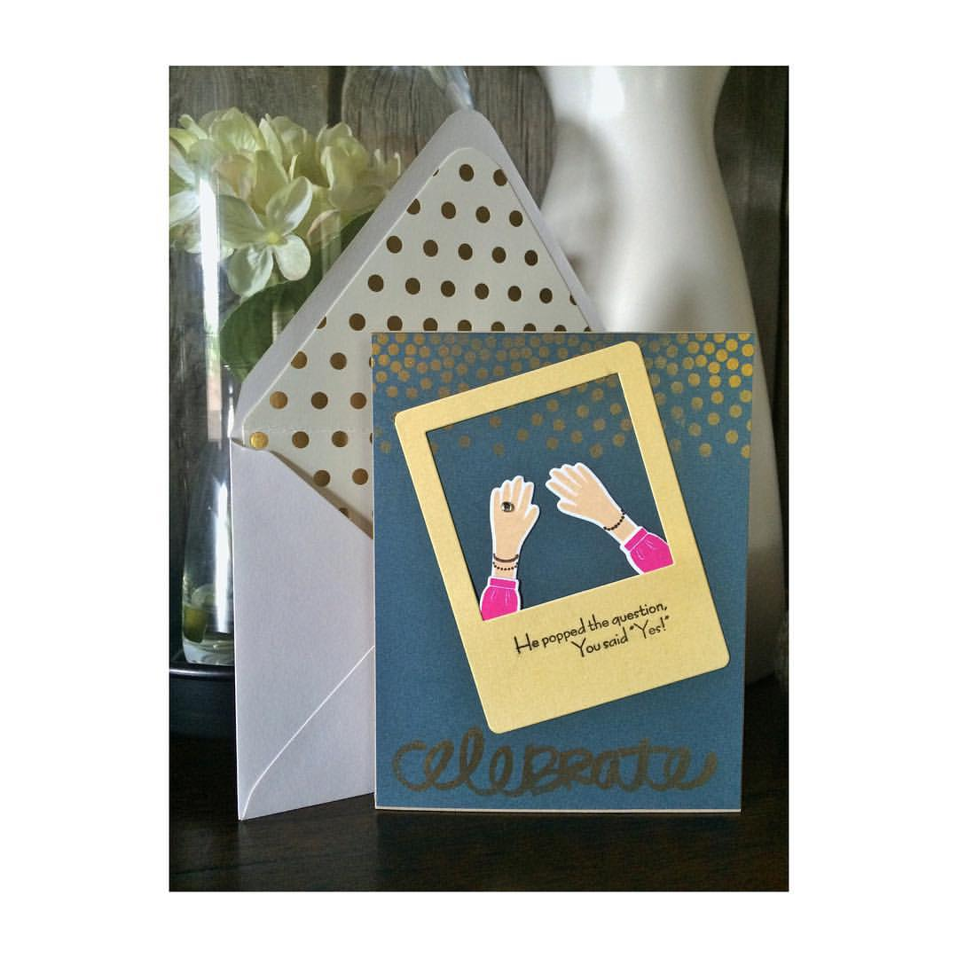 Congrats @haliay and Matt! We are so happy for you two! 😘 #diy #papercrafts #papertreyink #denimandinkcards #cards