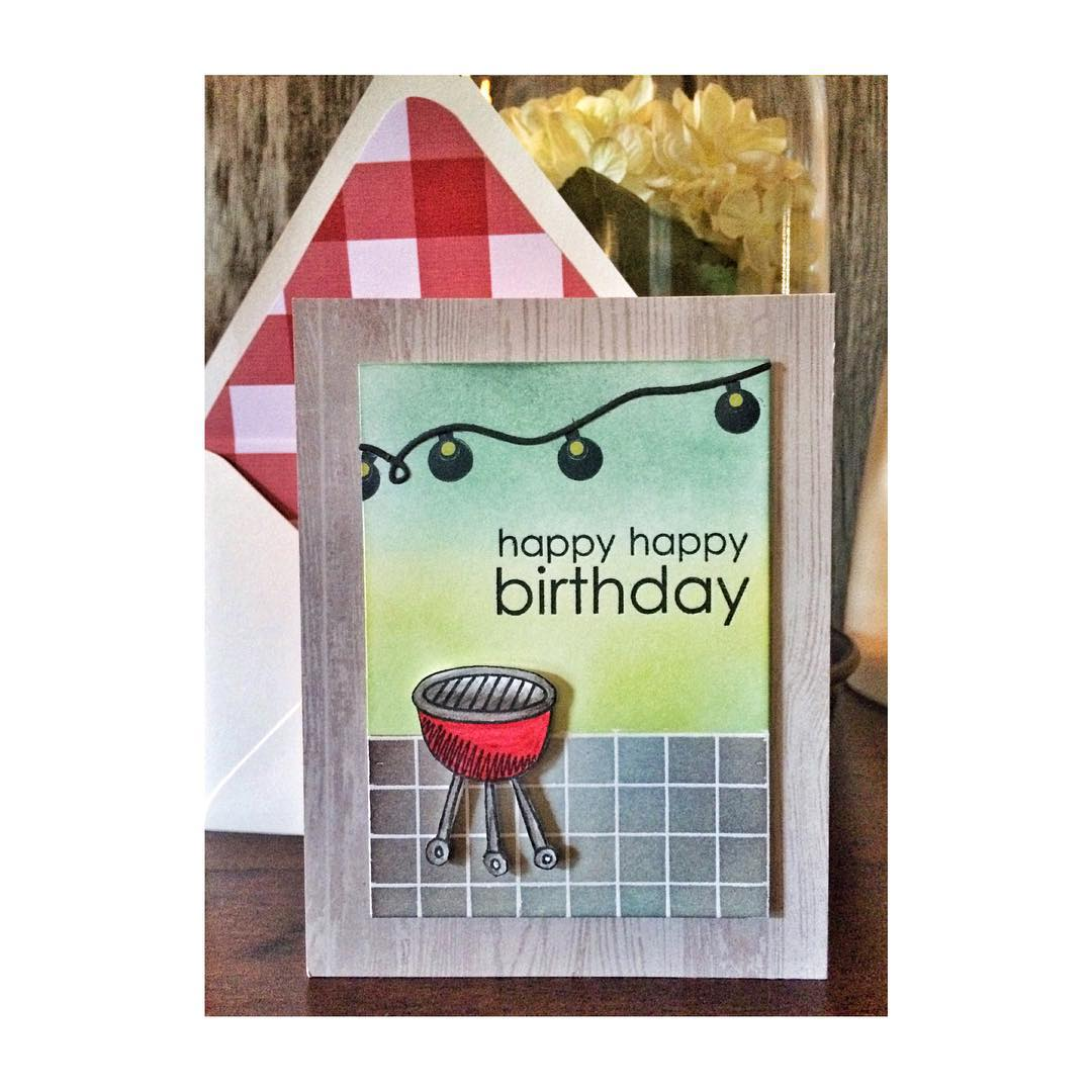 Can't wait to have drinks on your new patio! Happy Birthday @ldtoft #cards #diy #denimandinkcards #papercrafts #papertreyink #simonsaysstamp