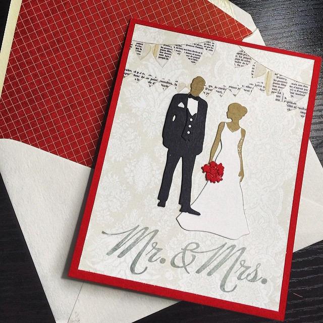 Congrats Jen & John! #diy #papercrafts #valentinesdaywedding #papertreyink