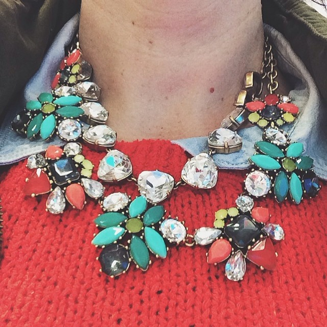 Bright colors and bling to help me manage this never ending brutal weather #stelladot
