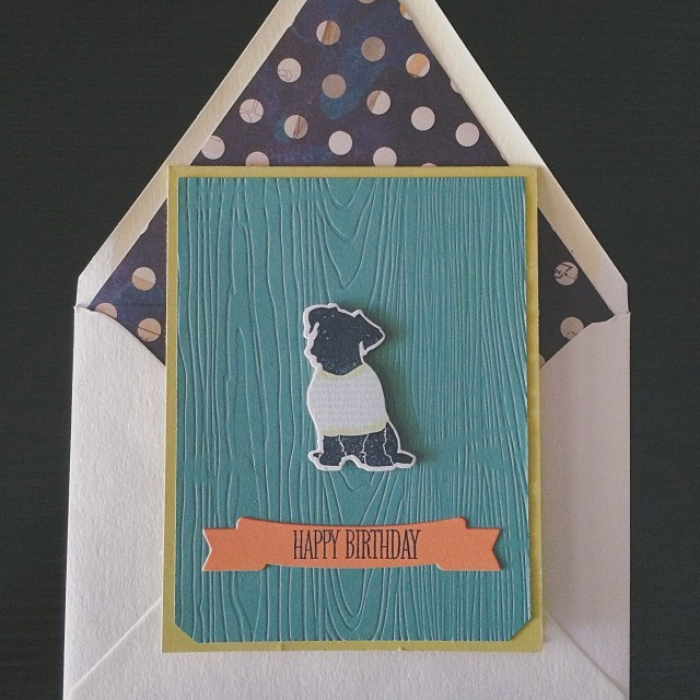 Happy birthday @derickson321 #diy #papercrafts #papertreyink