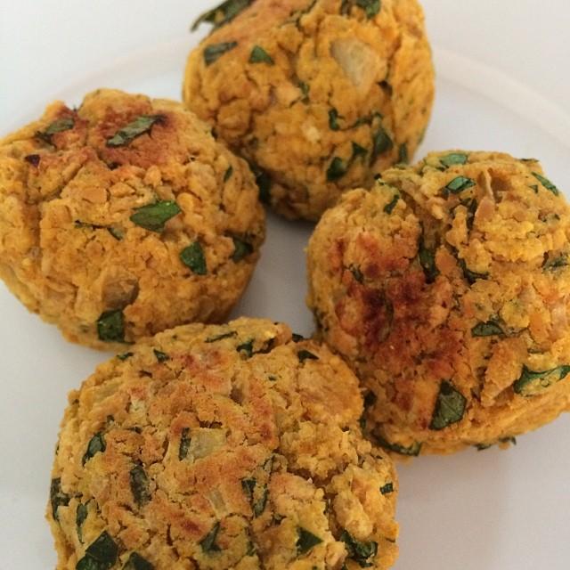 Baked falafel from @kimsbeautydetox #beautydetox #vegan #gluttenfree
