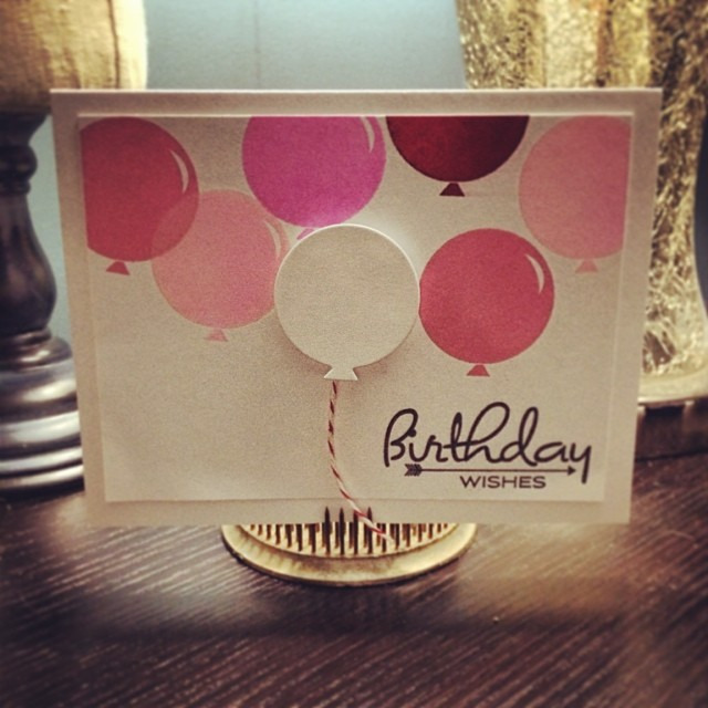 It's birthday time at work today - two of my team had bdays yesterday #diy #papercrafts #birthday