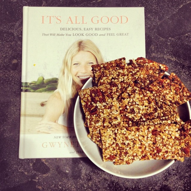 Made bummer bars from @gwynethpaltrow tonight and they are divine #glutenfree #cleaneating #vegan
