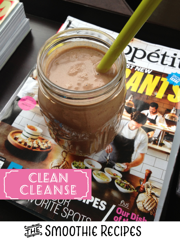 I'm almost done with my first week of the  CLEAN  cleanse and you guys have been awesome! The notes of support and encouragement have really kept me motivated. Many of you have had questions, so I thought I would take the time today to answer a few and share my favorite smoothie recipes (TIP: You can even make these if you're not cleansing- just use protein powder)   Q: Why did you chose Clean over other cleanses?   A: I've done cleanses in the past - all juice cleanse, detox cleanse by  BeWell , yoga detox cleanse -but I always felt I was missing something. Some were too restrictive, others to labor intensive, and with juicing I simply missed actually chewing something. I had been researching Clean since I read  this post  on goop, but just never pursued it due to cost. It is pricier than the other cleanses I've done, but they had a 20% off one day sale in August and I jumped on it. Their philosophy resonated with me and they also have a great blog and support system. When I'm on a cleanse, I need to believe in what I am following, otherwise I won't change my habits. It needs to be sustainable, and so far this one has hit home the most with me.   Q: Is it just shakes/smoothies?   A: No, you make a smoothie for breakfast, eat a clean meal for lunch and then have a smoothie for dinner. The shake cleanses I've done in the past were the kind where you simply mix the shake powder with water or milk and try to force it down. YUCK! Clean encourages you to mix your shake up with just about any clean food out there. In fact, their meal plan guide has enough smoothie recipes for you to not have the same one twice during your cleanse. Have I mentioned they are DELISH?!? Seriously, even my husband has tried a few and really enjoyed them. They also have some great clean food recipes and give you tips on how to eat out if you need to while on the cleanse.   Q: Have you had side effects?   A: A few, but they haven't been too bad- a slight headache the second day and really tired 