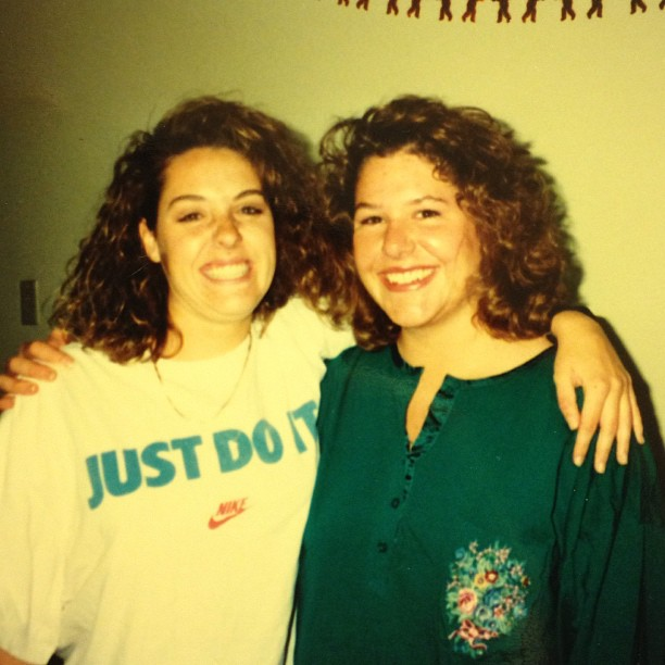 #tbt big hair and just do it.  We were it!! #throwbackthursday #collegedays