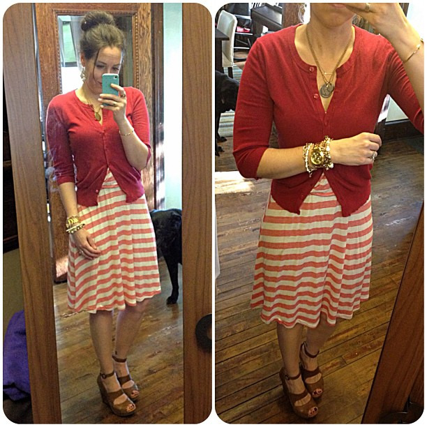 Another take on red and khaki - barely!