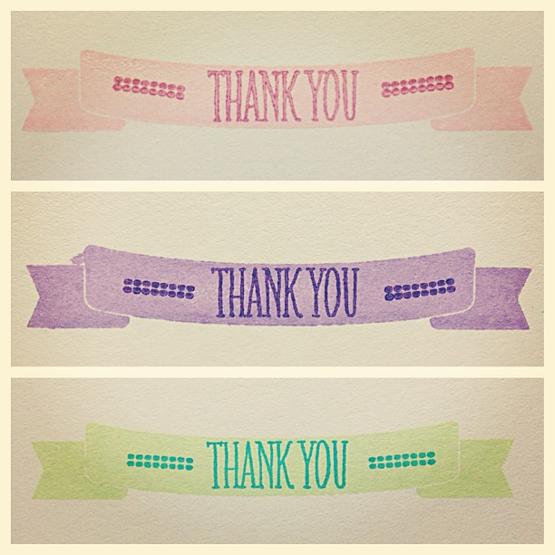 Thank cards in the making #papercrafts #cards #diy