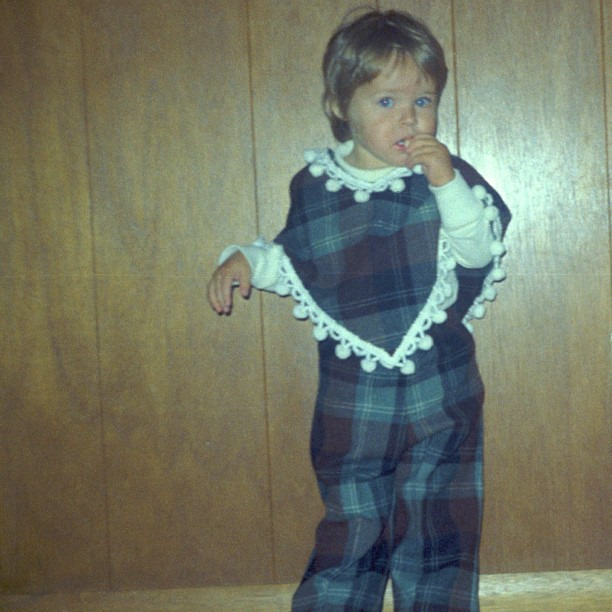 #tbt Head to toe print. Lover of plaid. These habits started at age 2 #throwbackthursday