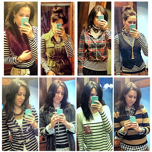 Think I like stripes?!? What's your go to pattern? #stripes #classic #nautical