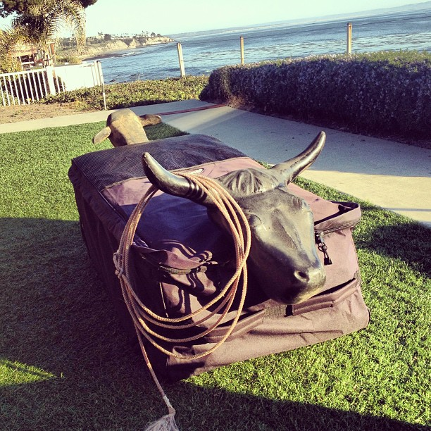This is what a beach cowboy looks like #vacationhouse #slo #roping